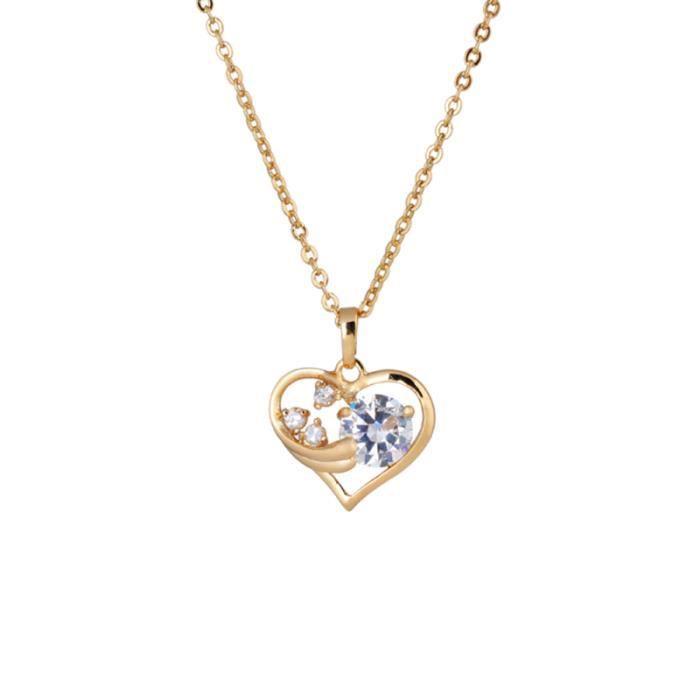 1PC femmes filles dame Simple Zircon micro-incrusté élégant personnalisé petit collier creux en forme CHAINE DE COU VENDUE SEULE