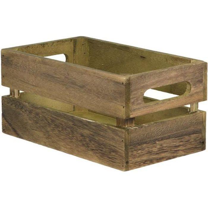 Caisse en bois vintage pour table hôtel - restaurant - CAD-VIN 21 Bois Vintage