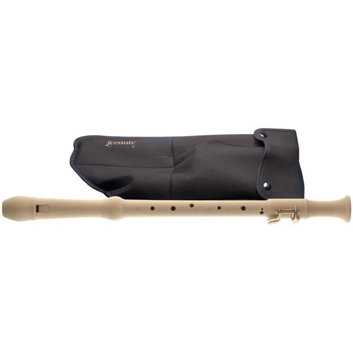 Flûte à bec ténor en érable, doigté baroque, 2 clés