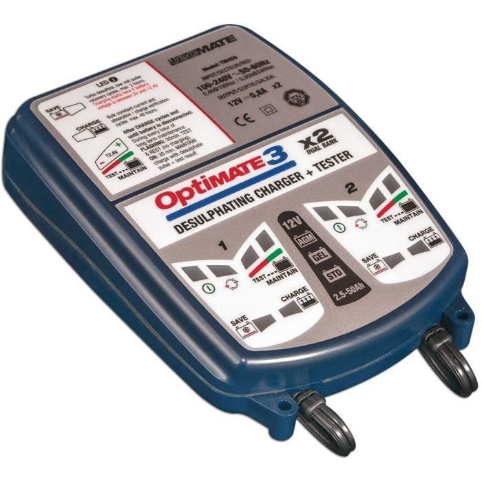 Chargeur de batterie Tecmate OPTIMATE 3x2 12V 2>50Ah