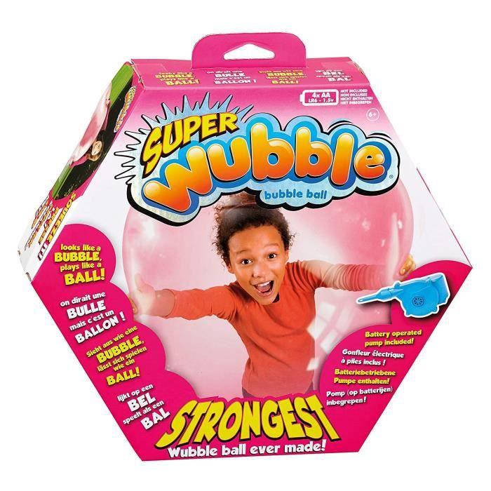 Ballon à bulles Super Wubble avec pompe - Rose