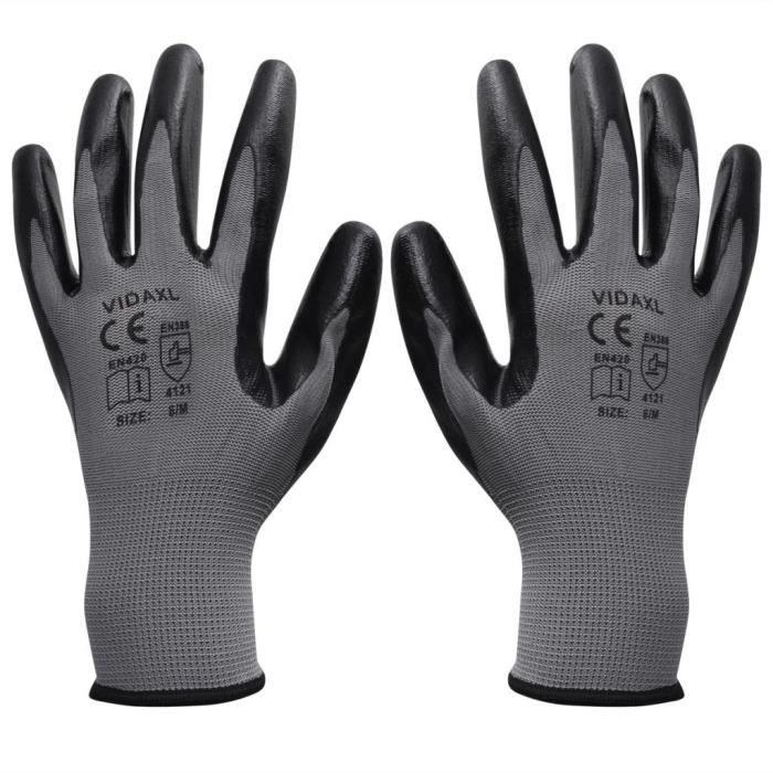 3 Paire Nylotex Taille 9 Gants De Protection Travail Gants Mécanicien Gants
