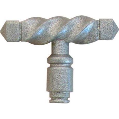 COQ 1//2 bouton r/éversible de porte ext/érieure ou portail en fer forg/é patin/é