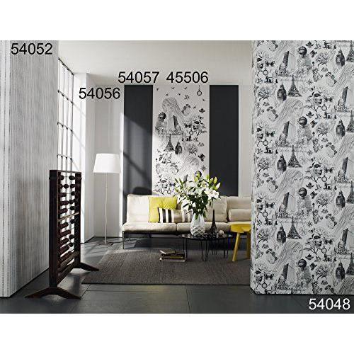4 murs femme papier peint couleur beige blanc gris - Papier peint 4 murs salon ...