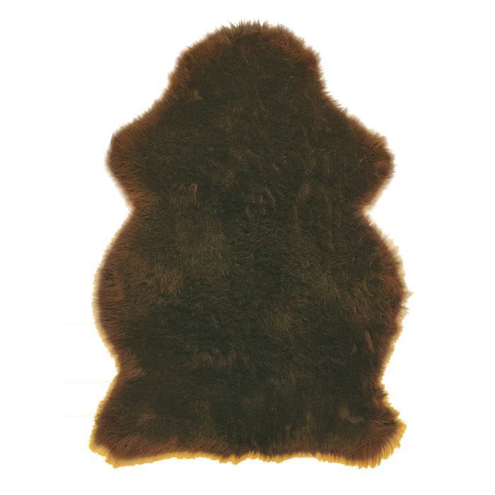 tapis naturel peau de mouton marron 65x90 p achat vente tapis cdiscount. Black Bedroom Furniture Sets. Home Design Ideas