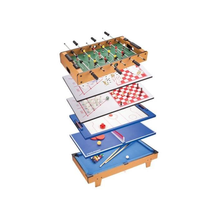 Table jeux multiples 8 en 1 baby foot billard e achat vente table mult - Table multi jeux 5 en 1 ...
