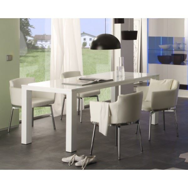 Table de salle manger design lumia coloris b achat for Table de salle a manger design
