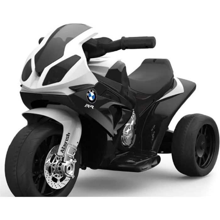 bmw s 1000 rr tricycle lectrique pour enfants moto piles 3 roues sous licence 1x moteur. Black Bedroom Furniture Sets. Home Design Ideas