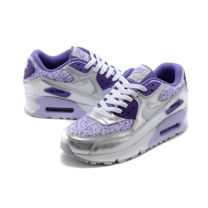 Nike Air Max 90 femme baskets fille mauve - Cdiscount Chaussures