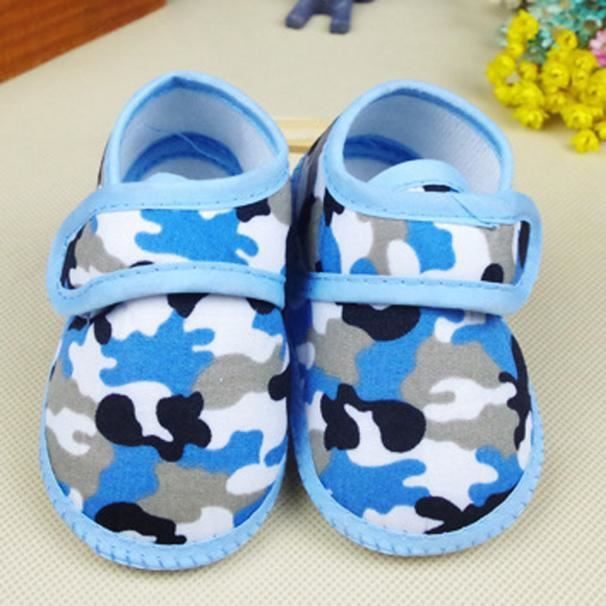 Nouveau-né garçon de camouflage garçon Soft Sole Crib Toddler Shoes Canvas sneaker