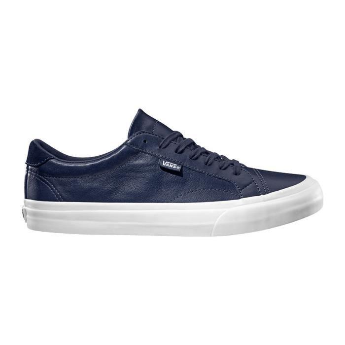 Sneakers en cuir - bleu marine Bleu marine - Cdiscount Chaussures