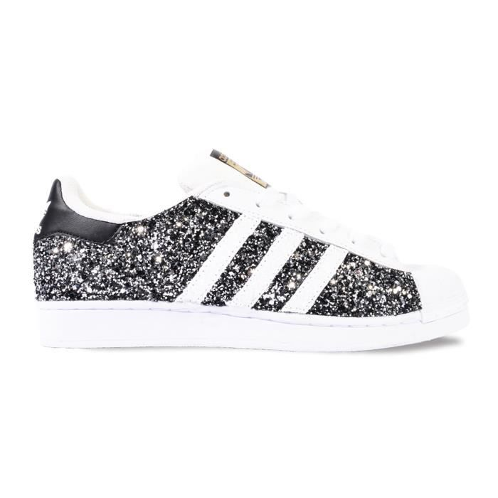 adidas superstar noir pailleté