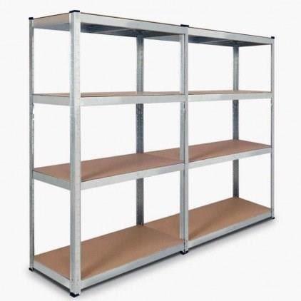 ETAGÈRE MURALE Double étagère modulable en métal pour charges lou