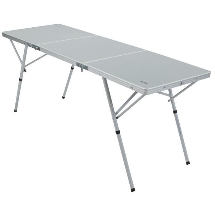 Table pliable 6 personnes en aluminium alder vango for Table 5 personnes