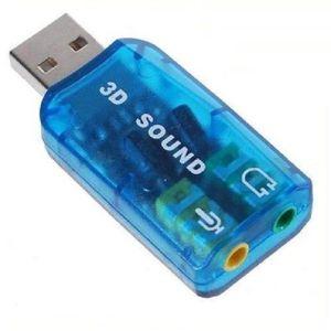 CARTE SON INTERNE  5.1 USB audio Micro/Casque 3D Adaptateur Carte so
