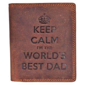 PORTEFEUILLE STARHIDE Keep Calm I'm The Worlds Meilleur Papa Ho