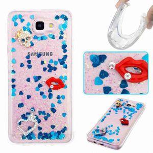 coque iphone 5s magnifiques bleu paillettes levre