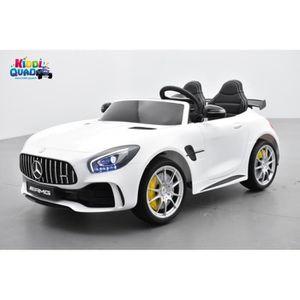VOITURE ELECTRIQUE ENFANT Mercedes AMG GT R 2 places Blanc, voiture électriq