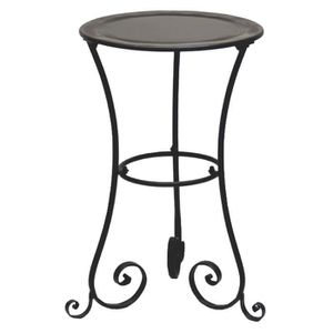 Gueridon table fer forge charme achat vente console - Table d appoint fer forge ...