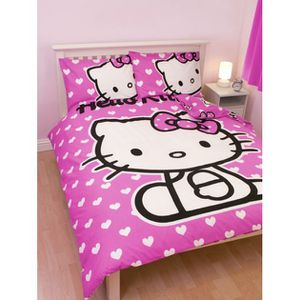 housse de couette 200x200 hello kitty achat vente housse de couette 200x200 hello kitty pas. Black Bedroom Furniture Sets. Home Design Ideas