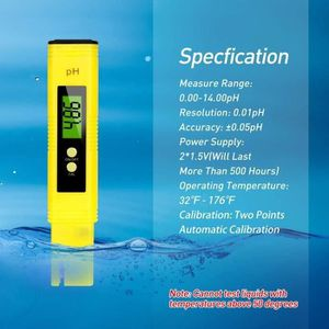 SAVFY/® PH Testeur /Électronique Digital Hydroponique Poche Pen-PH Pour Aquarium Piscine