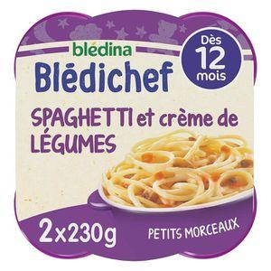 PLATS PRÉPARÉS SOIR BLEDICHEF Spaghettis et légumes 2 x 230g