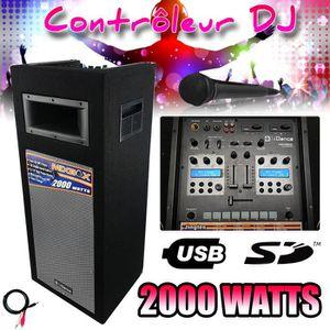 PACK SONO Enceinte active Amplifiée iDance Audio MIX BOX DJ-