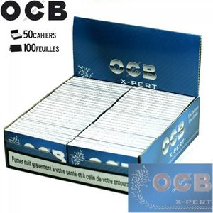 OCB courtes doubles X-pert blue 4 boite de 25 carnets de 100 feuilles