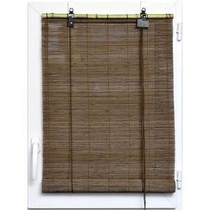 STORE DE FENÊTRE Store enrouleur en bambou avec crochets pour fenêt