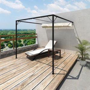 TONNELLE - BARNUM Tonnelle de jardin en acier 3 x 3 x 2,3 m avec auv