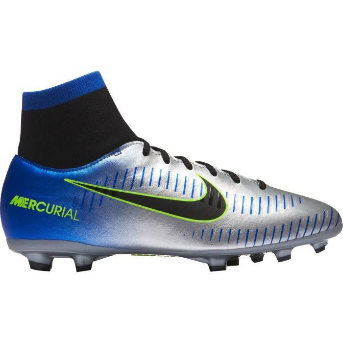 NIKE Chaussures de football Mercurial Victory VI DF NJR FG - Enfant garçon - Bleu