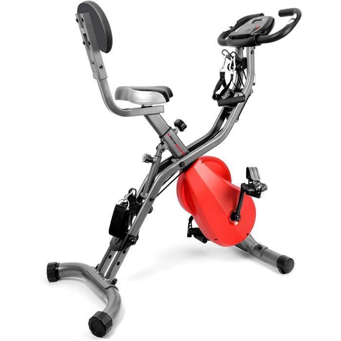 Ultrasport F-Bike PRO ergomètre, Vélo d'appartement, Vélo d'exercice professionnel, capteurs de pouls intégré, support pour Tablette