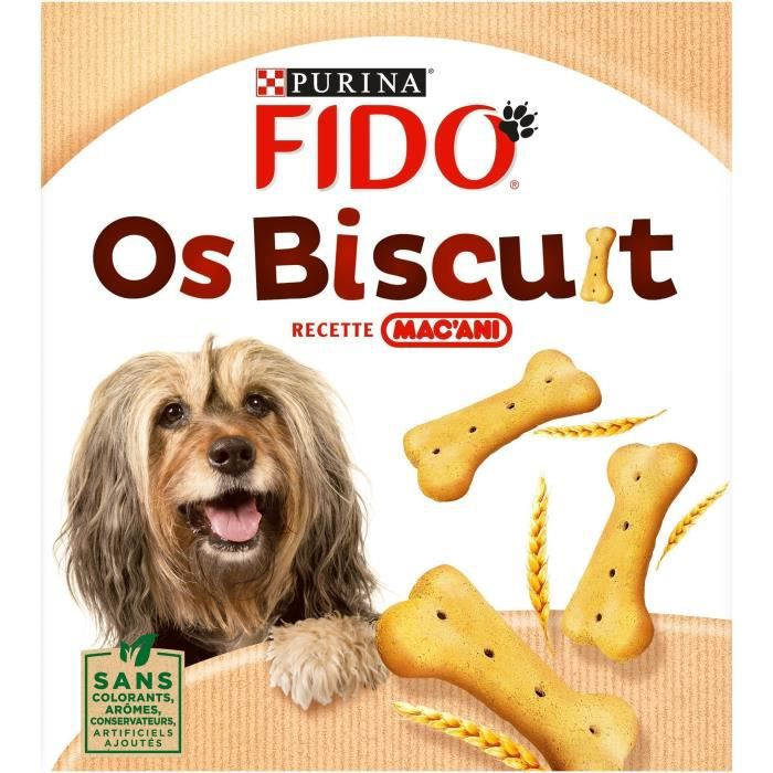 FIDO Os Biscuits Recette Mac'Ani - Pour chien - 800 g