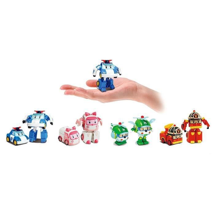 ROBOCAR POLI Asst Figurines Transformable 8 Cm