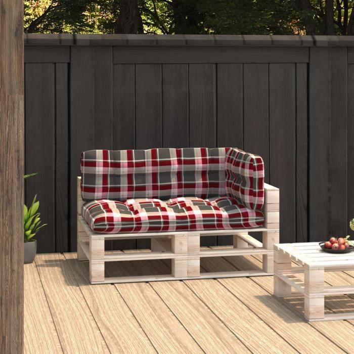 MMP��-Parfait-Coussins de canapé palette 3 pcs - Coussin matelassé pour palette - Coussin pour banc de jardin Banquette Motif 9958