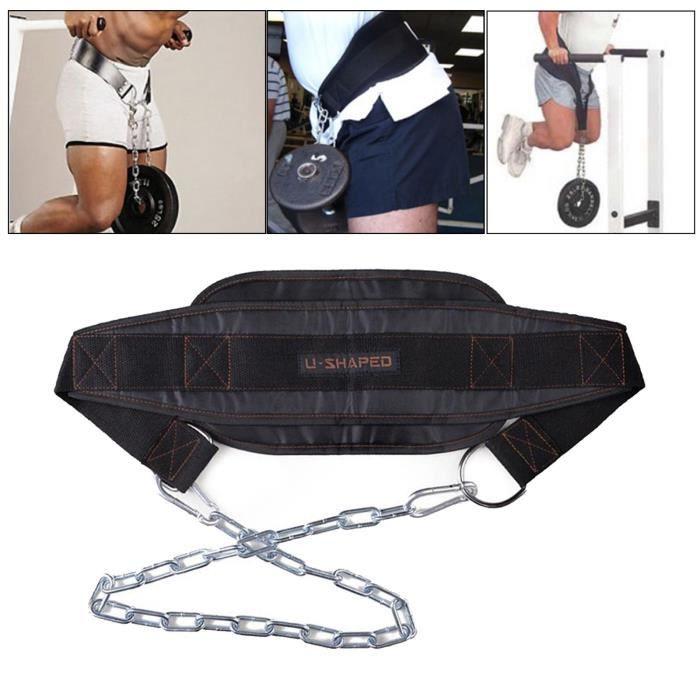 Entraînement De Remise En Forme Pull Up Dipping Belt Body Building Weight Lifting Strap