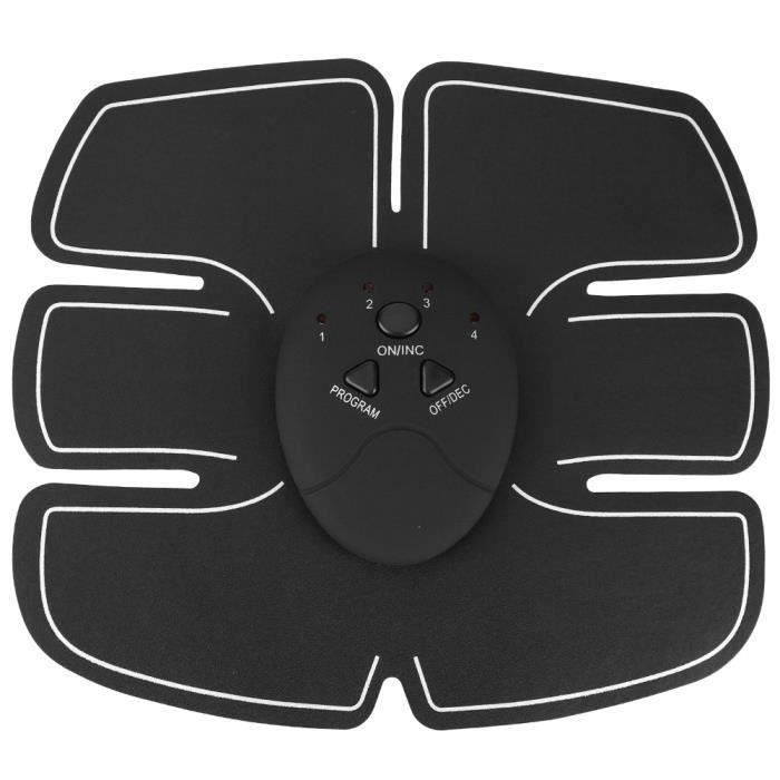 BOYOU Rechargeable EMS Ceinture abdominale tonifiante Muscle Toner Pad Body Fitness Abdomen Bras Jambe Formation