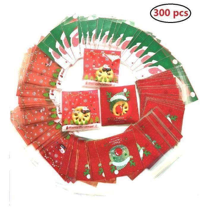 300pcs sac sachet transparent Sachets Pochettes Sac d'emballage pour bonbon sucette chocolat friandise sucreries Go45563