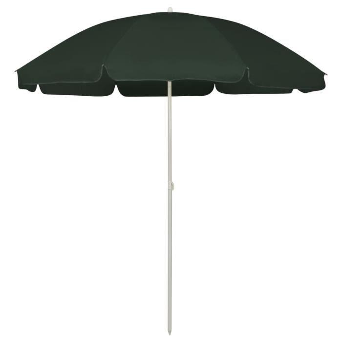 -FLASH-1430Parasol de Jardin & balcon Parasol d'extérieur Haute qualité - Parasol de plage ABRI Tente de plage Vert 240 cm