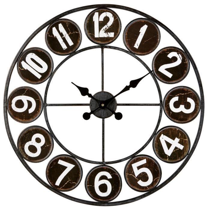 EMOTION Horloge Loft noir 60 cm
