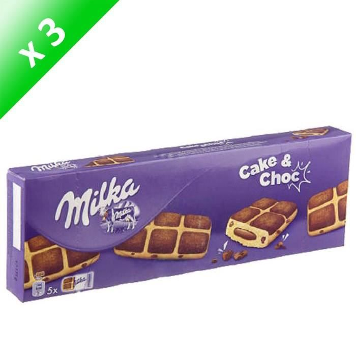 [LOT DE 3] Cake and chocolat 175 g Milka