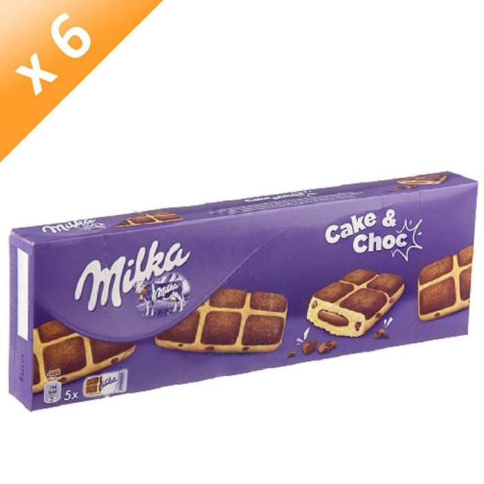 [LOT DE 6] Cake and chocolat 175 g Milka