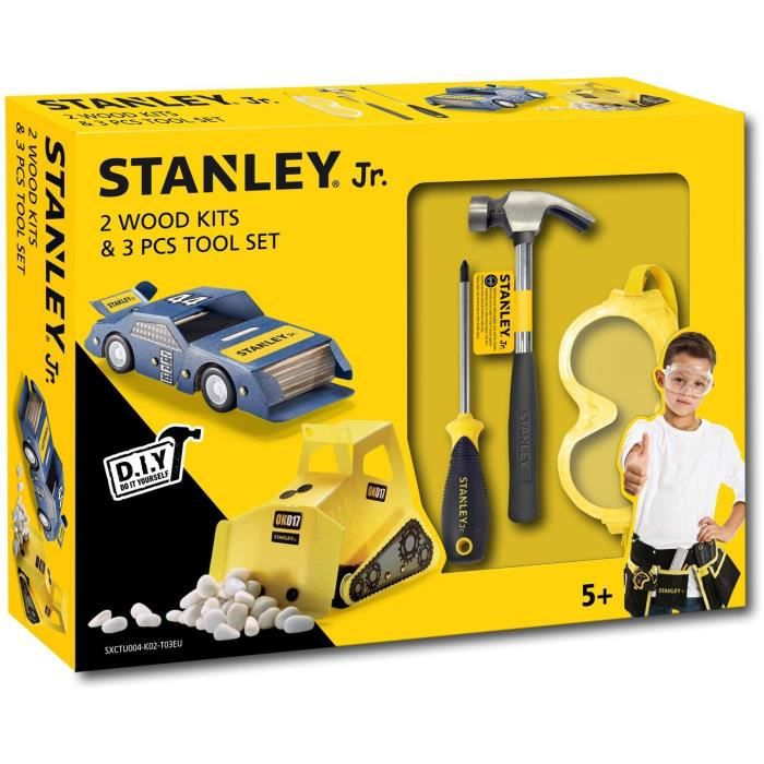 Stanley Jr - Kit 4 bricolage 3 outils
