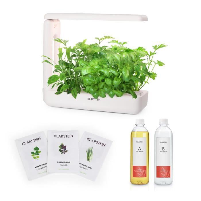 Sytème Hydroponique - Klarstein GrowIt Cuisine Kit de démarrage Culture Indoor pour 12 plantes - kit de semences Asia Seeds
