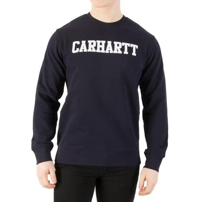 Carhartt WIP Homme Sweat-shirt d'université, Bleu