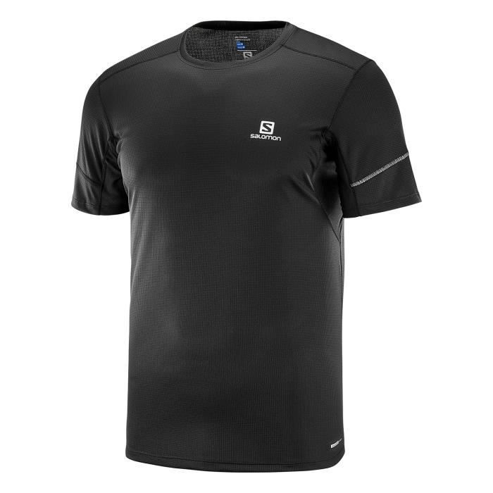 SALOMON T-shirt de running Agile - Homme - Noir