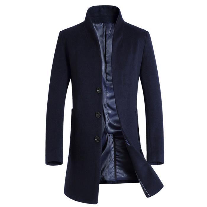 manteau homme de Marque de laine manteau de mode manteau long manteau L'hiver Vêtement Masculin
