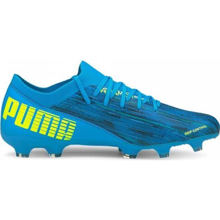 Chaussures de football de football ULTRA 3.2 FG/AG Puma - bleu/jaune fluo - 42