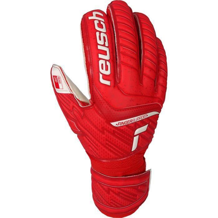 Gants Reusch Attrakt Grip Finger Support - rouge/blanc - 8