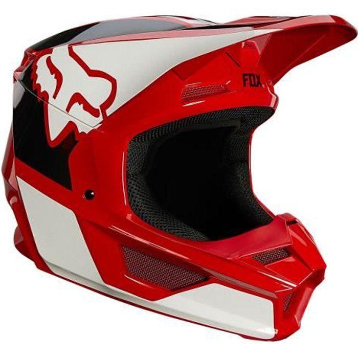 Casque Moto Cross FOX V1 REVN Rouge